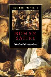 K. FREUDENBURG (éd.), The Cambridge Companion to Roman Satire