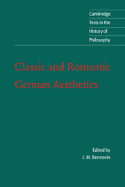 Classic and Romantic German Aesthetics