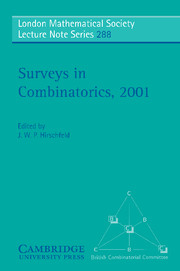 Surveys in Combinatorics, 2001