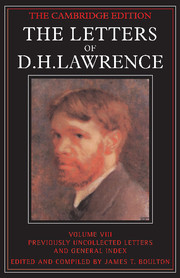 The Cambridge Edition of the Letters of D. H. Lawrence