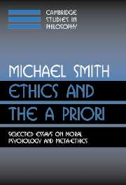 Ethics and the A Priori