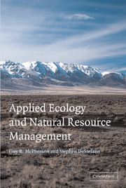 Applied Ecology and Natural Resource Management