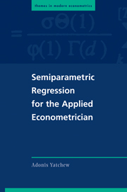 Semiparametric Regression for the Applied Econometrician