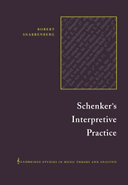 Schenker's Interpretive Practice