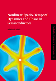 Nonlinear Spatio-Temporal Dynamics and Chaos in Semiconductors