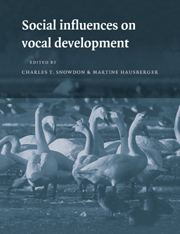 Social Influences on Vocal Development