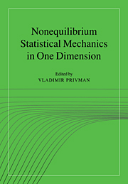 Nonequilibrium Statistical Mechanics in One Dimension