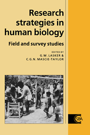 Research Strategies in Human Biology