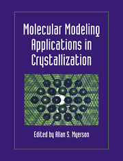 Molecular Modeling Applications in Crystallization