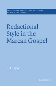 Redactional Style in the Marcan Gospel