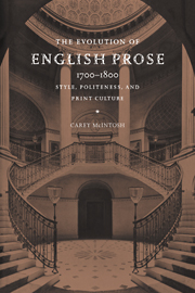 The Evolution of English Prose, 1700–1800
