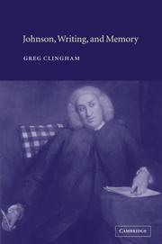 Johnson, Writing, and Memory