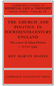 Church/Politcs:Adam Orleton