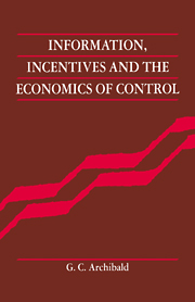 Information, Incentives and the Economics of Control