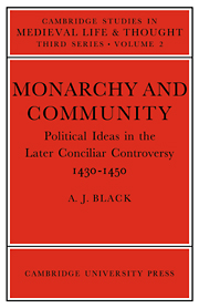 Monarchy and Community