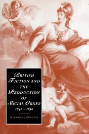British Fiction and the Production of Social Order, 1740–1830