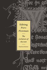 Editing Piers Plowman