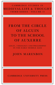From the Circle of Alcuin to the School of Auxerre
