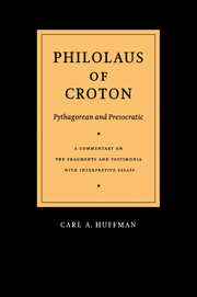 Philolaus of Croton: Pythagorean and Presocratic
