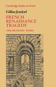 French Renaissance Tragedy
