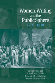Women, Writing and the Public Sphere, 1700–1830