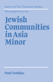 Jewish Communities in Asia Minor