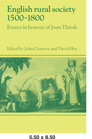 English Rural Society, 1500–1800