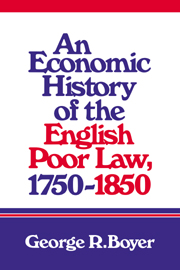 An Economic History of the English Poor Law, 1750–1850