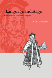 Language and Stage in Medieval and Renaissance England