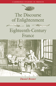 The Discourse of Enlightenment in Eighteenth-Century France