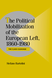 The Political Mobilization of the European Left, 1860–1980