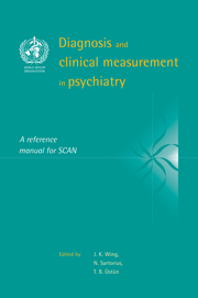 Diagnosis and clinical measurement psychiatry reference manual scan diagnosis and clinical measurement in psychiatry a reference manual for scan fandeluxe Images