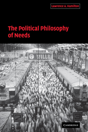 The Political Philosophy of Needs