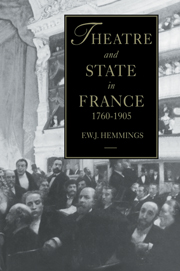 Theatre and State in France, 1760-1905