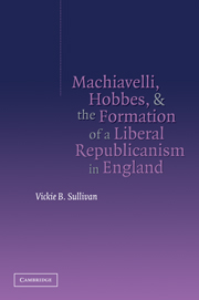 Machiavelli, Hobbes, and the Formation of a Liberal Republicanism in England