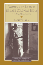 Women and Labour in Late Colonial India