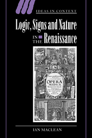 Logic, Signs and Nature in the Renaissance