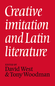 Creative Imitation and Latin Literature