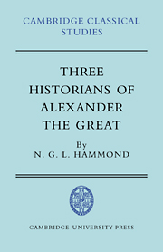 Three Historians of Alexander the Great