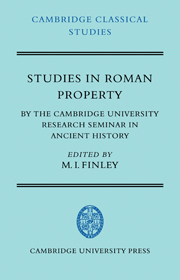 Studies in Roman Property