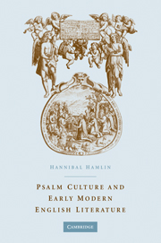 Psalm Culture and Early Modern English Literature