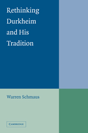 Rethinking Durkheim and his Tradition