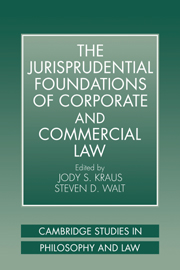 The Jurisprudential Foundations of Corporate and Commercial Law