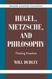 Hegel, Nietzsche, and Philosophy