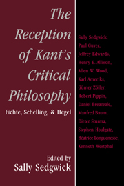 The Reception of Kant's Critical Philosophy