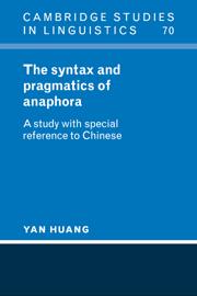 The Syntax and Pragmatics of Anaphora