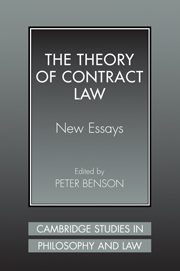 The Theory of Contract Law