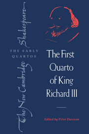 The First Quarto of King Richard III