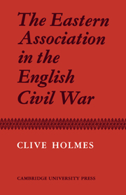 The Eastern Association in the English Civil War
