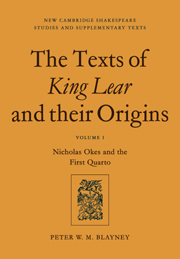 The Texts of King Lear and their Origins